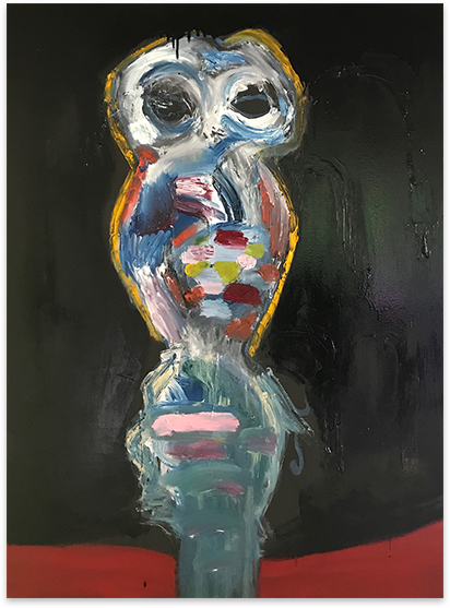 Owl Woman Painting
